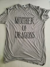 HBO Game Of Thrones Mother Of Dragons Womens T Shirt Size 2XL Gray Short Sleeve
