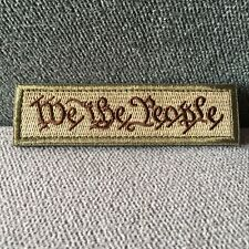 Embroidered WE THE PEOPLE US ARMY Military Tactical Morale Hook Loop Tab Patch