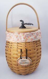 Longaberger OCTOBER FIELDS  Basket Combo - Liner, Basket, Lid & Tie On