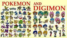 Pokemon, ir & Digimon, máquina de bordar Diseños, pes CD máquina de bordar