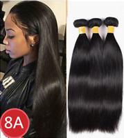 Brazilian Virgin Remy Straight Unprocessed Human Hair Extensions 3 Bundles 300g
