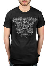 Official Guns N Roses Skeleton Guns T-Shirt Rocket Queen Welcome To The Jungle