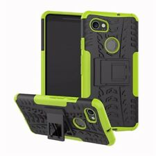 Heavy Duty ShockProof Kick Stand Case Builder Cover for Google Pixel 2 (Green)