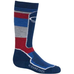Icebreaker OTC Kids Ski Socks, Largo/Cadet/Rocket
