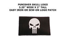 PUNISHER SKULL Sew or Iron-on Patches Embroidered Badge Applique Patch US SELLER