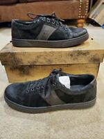 Mens Born Baum Casual Leather Sneakers Shoe Black Ortholite size 9 New