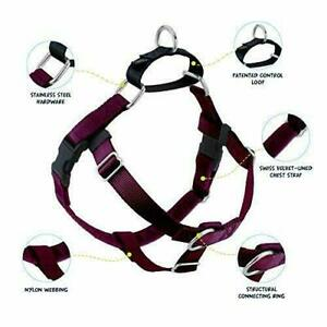 2 Hounds Design Freedom No Pull Dog Harness Burgundy Color XL 32-36 in - New