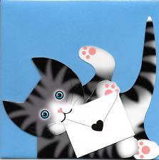 Gratis 1st Clase P&p #120 Luna 3D entrega especial Stand Up Tarjeta Pussy Cat Gatito