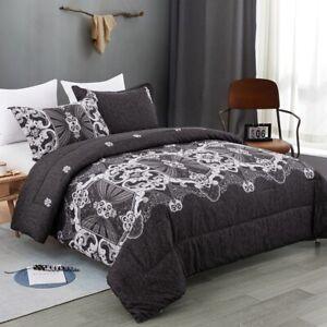 European Floral Warm Comforter Duvet/Quilt/Doona Set Queen/King Size Blanket Bed