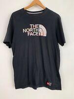 The North Face Black Athletic Casual TShirt TNF Multi Color Half Dome Logo Men M
