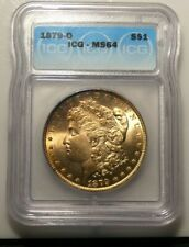 1879 O (Rare Date) Morgan Silver Dollar IGC MS64 Golden Obverse Toning
