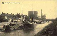 Dixmude Diksmuide Belgien ~1910 Le Haut Pont et l'Yser Schiff Brücke Verlag Nels