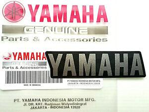 ORIGINAL Yamaha Schriftzug Aufkleber-8,5cm-GUNPOWDER/BLACK-Logo-Sticker-Emblem