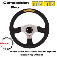 Momo competencia Evo 320MM airleather volante radios de plata