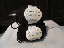 2 Skeins Debbie Bliss Yarn - Rialto Aran - Dark Brown
