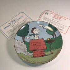 PEANUTS GANG DANBURY MINT COLLECTORS PLATE CHARLIE BROWN RED BARON SNOOPY TIME