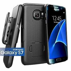 Belt Clip Holster Samsung Galaxy S7 Slim Fit Holster Grip Shell Combo