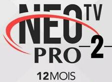 Neo X Tv Pro 2, 12 mois   Envoi Gratuit Et Rapide5 à 15 minutes