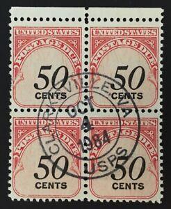 Clarksville, Virginia Oct 4, 1984 Circular Hand-Stamp cancel #J99 Block of 4