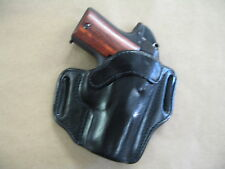 Browning 1911 22 / 380 Leather 2 Slot Molded Pancake Belt Holster CCW - Black RH