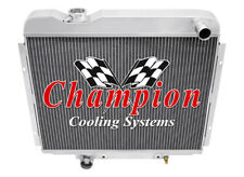 4 Row Aluminum Champion Radiator for 1965 1966 Ford Galaxie V8 Engine