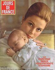 COUVERTURE de MAGAZINE,COVERAGE Jours de France  n°552 12/06/65 Grace de Monaco