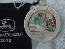 2010 JOHN DEERE #15 PEWTER CHRISTMAS ORNAMENT