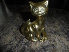 VINTAGE SOLID BRASS CAT PIPE STAND CAST IRON