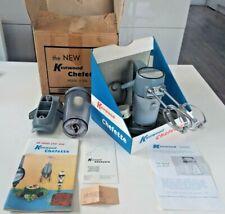 RARE Vintage 1960s Kenwood Chefette Mixer A320 + Liquidiser + Instructions + Box