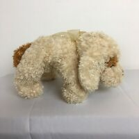 Chad Valley Cream and Brown Puppy Dog Beanie Plush Soft Toy Length 11 inches