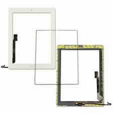 For iPad 4 White Replacement Screen Touch Digitizer+Frame Bezel+Home Button Flex