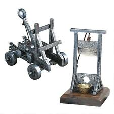Medieval Machines Warfare Catapult & Execution Guillotine Desk Executive Toys