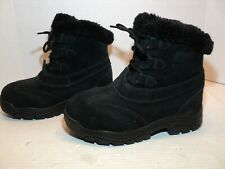 Sorel womans winter boots size 6 black suedeThinsulate insulated #NL1781-010