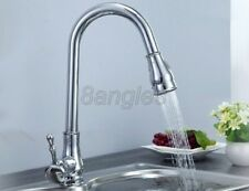 Chrome Brass Kitchen Sink 2 Functions Pull Out Faucet Hot & Cold Taps 8sf102