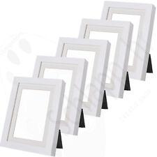"""5 Stück Set IKEA """"RIBBA"""" 10x15 / 13x18 cm. Weiß/ Bilderrahmen/ Passepartout NEU"""