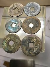 6 Pieces Ancient Original Authentic Chinese Coins/ Cash  #276