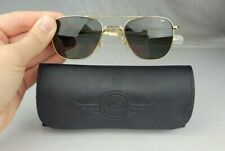 AO American Optical 52mm Original Pilot Aviator Gold Frame Sunglasses & Case #2