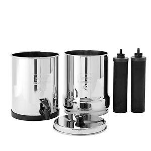 Travel Berkey Water Filter System w/ 2 Black Berkey Purifiers - NEW