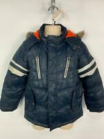 BOYS MARKS&SPENCER BLUE CASUAL WINTER PADDED RAIN COAT JACKET KIDS AGE 5/6 YEARS