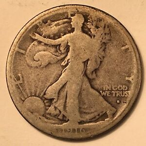 1916-S 50C Walking Liberty Half Dollar G Key Date!!