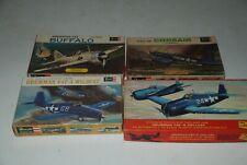 Lindberg F6F, Revell Buffalo, F4F, Corsair
