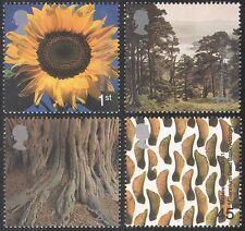 GB 2000 MILLENNIUM/Arbres/FLEURS/Bois/Forêt/Plantes/nature 4 V Set (n22484)