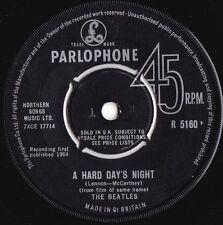 Beatles ORIG UK 45 A hard days night VG+ '64 Parlophone R5160 Beat Rock Pop