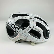 Poc Octal Size Small Cycling Bike Helmet White Customized With Glitter