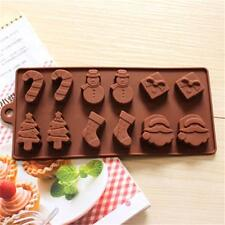 Christmas Chocolate Mould Cake Cookies Tree Snowman Stocking Baking Tool Mold B