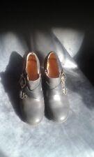 Damas Clarks Cuero Negro Tobillo Botas/Zapatos Uk Size 5