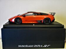 LAMBORGHINI LP670-4 SV MR 1/18 RED WITH BLACK ROOF N° 10  NEW CONDITION