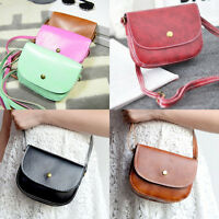 Womens PU Leather Small Satchel Handbag Crossbody Shoulder Bag Messenger Totes.