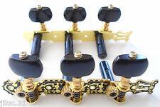 NEW Mécaniques 3X3 acoustiques gold & black pour guitare classique, acoustique