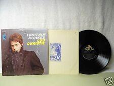 Lou Christie LP Lightnin' Strikes Very Clean 1966 Stereo 33 RPM Rock Orig!
